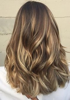 hair color idea - light brunette balayage highlights by rena