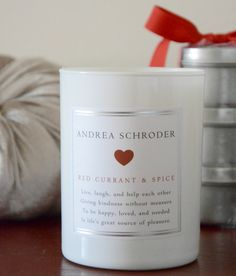 Andrea Schroder: The Poetry of Fragrance  Red Currant and Spice Candle