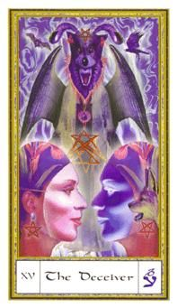 January 15 Tarot Card: The Devil (Gendron deck) All is not what it seems; connect with your inner spirit to break the ties that bind you to life's struggles
