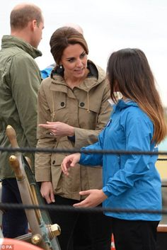 The Duke & Duchess of Cambridge joined members of the Sail and Life Training Society, at Victoria Inner Harbour in VictoriaRead.  October 1, 2016.