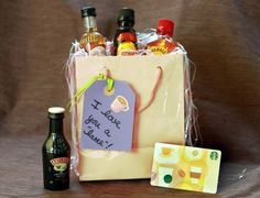 Next time you gift a coffee shop gift card, present it with a mini bottle of Baileys or Kahlua!