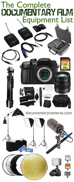 The Complete Documentary Filmmaking Equipment List - Everything you need to make your documentary film. Cameras, lenses, microphones, batteries, cases, tripods, memory cards, lighting, and more. Perfect for film students, newbies and indie filmmakers to prepare for their next doc project or indie movie. Photo Documentary, Documentary Filmmaking, Court Métrage, Film Tips, Dark Moon, Fiction Film, Indie Movies, Iconic Movies, Film Studies