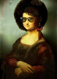 Gioconda Project invites artists from all over the world to revisit and retouch the Mona Lisa by Leonardo Da Vinci. Mona Lisa Smile, Le Sourire De Mona Lisa, Lisa Gherardini, La Madone, Mona Lisa Parody, Frida Art, Popular Paintings, Arte Pop, Pic Monkey