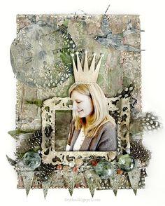 Guriana - #portrait by drycha.blogspot.com #collage #scrapbooking #mixedmedia