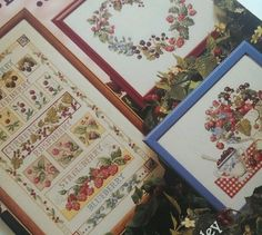 Berries Berry Collection Cross Stitch Pattern Terrence Beesley 13 Designs Fruit #AmericanSchoolOfNeedlework