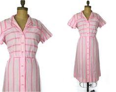 Jahrgang 1950 Kleid 50er Jahre Kleid Rosa Kleid von KayDoveVintage