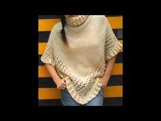 Poncho Tejidos en Crochet y Dos agujas - YouTube