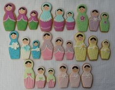 set of 3 Russian doll cookie cutters Fancy Cookies, Iced Cookies, Sugar Cookies, Cooking Cookies, Matryoshka Doll, Diy Doll, Cookie Decorating, Christmas Cookies, Doll Cakes