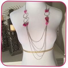 ⚡️FLASH SALE ⚡️Fuchsia Necklace Long Fuchsia necklace Boutique Jewelry Necklaces