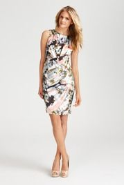 Suzi Chin | Cocktail| BLAKE PRINTED CHARMEUSE DRESS at Blake Printed Charmeuse Dress - Sale at Suzi Chin Maggy Boutique
