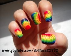 Tie Dye - Nail Art Gallery by NAILS Magazine