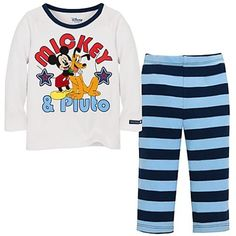 Disney Mickey and Pluto Infant Boys 2pc Set (3-6Mos)