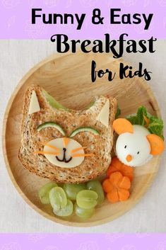 Easy Breakfast Ideas for Kids to Make Quick, Healthy and Instant Breakfast Recipes for Kids and Teenagers Easy Breakfast Ideas for Kids to Make. Breakfast is the most important meal of the day and … Funny Breakfast, Healthy Breakfast For Kids, Healthy Lunches For Kids, Egg Recipes For Breakfast, Breakfast Menu, Breakfast Items, Perfect Breakfast, Kids Meals, Healthy Snacks
