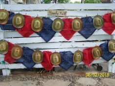 Hats and bandanas at a Cowgirl Party not red and blue Rodeo Birthday Parties, Cowgirl Birthday, Birthday Party Themes, Birthday Ideas, Birthday Hats, 10th Birthday, Cowgirl Party, Rodeo Party, Rodeo Cowgirl