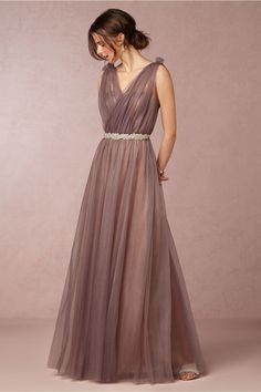 Donna Morgan Emmy Dress in Mulberry|BHLDN