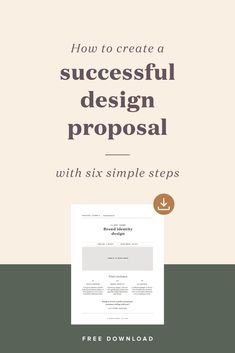 How to create a successful design proposal — Spruce Rd. - How to create a successful design proposal — Spruce Rd. App Design, Font Design, Graphic Design Tips, Freelance Graphic Design, Resume Design, Brand Identity Design, Branding Design, Report Design, Identity Branding