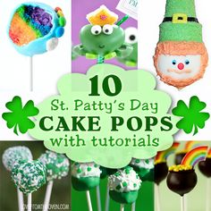 10 St. Patrick's Day Cake Pops with Tutorials