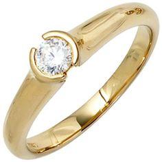 Damen-Ring 1 Diamant-Brillant 18 Karat (750) Gelbgold 0.25 ct. 50 (15.9) Dreambase, http://www.amazon.de/dp/B00EYGZLNM/ref=cm_sw_r_pi_dp_AG.itb0731A3C