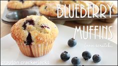 Learn how to make moist and tender blueberry muffins at home! Loaded up with fresh blueberries, topped with coarse sugar and baked until golden brown, these are the perfect breakfast or morning snack! You can also use raspberries, strawberries, blackberries, make them triple berry, etc. Any berry will work for this recipe. See how to make them here: https://youtu.be/0Y0gYzV4Z9Y
