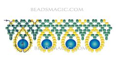 Free pattern for necklace Love Me Tender - 2 -------u need Seed beads 11/0 2 colors, Pearl beads 6 mm.