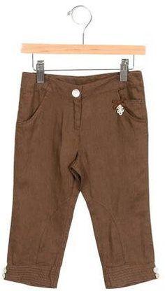 Tartine et Chocolat Girls' Linen Straight-Leg Pants w/ Tags