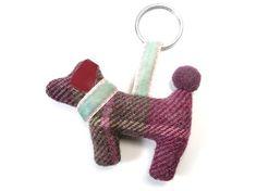 Dog Keyring - Hawthorn Tweed Fair Trade Jewelry, Jewelry Roll, Velvet Ribbon, Tweed, Indigo, Rolls, Jewellery, Christmas Ornaments, Dog