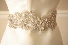 Bridal Sash belt Floral- Product code HAZEL