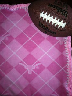 "Texas Longhorns Pink Argyle Baby College Football by CozyKrafts, $22.95  So many teams to choose from for the little ""Fan"" in your life!"