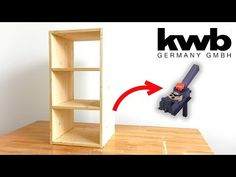 How to build a simple DIY shelf with this great Tool! This tool is a drilling and dowelling guide, with parallel fence and drilling guide, for corner, angle,. Kitchen Cabinet Crown Molding, Entry Closet, Easy Diy, Simple Diy, Diy Regal, Building A Fence, Mirror Door, Diy Furniture, Woodworking Projects