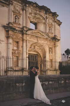 Destination Wedding in the Ruins of Antigua, Guatemala.  Experts in Destination Weddings. Such a magical place. Luis & Gaby. Wedding Planner: Dream Events Photography: Eva Zelenkova