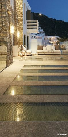 Outdoor   Outdoor paving  The Norr collection by Mirage is perfect for adding a touch of elegance and authenticity to any #outdoor project: uneven texture, pebbles in different colors and tone-on-tone nuances create pleasant 3D effects.