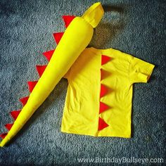 My boy just turned 4 and this was his favorite present - a DIY dinosaur costume I made him (can't find the matching mask but when I do I'll post it) He wore it All. Day. Long. It was hilarious watching him run around beating balloons toys and his dad with that tail. Ha!