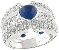 1.50ct Diamond Sapphire Ring Photo 1