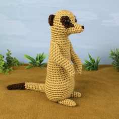 I'll make this for my dad! Link to crochet Meerkat pattern