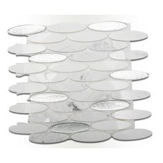 Ivy Hill Tile Orbit Ice Water Ovals 3 in. x 6 in. x 8 mm Mosaic Floor and Wall Tile Sample, Multi Splashback Tiles, Mosaic Wall Tiles, Mosaic Glass, Glass Tiles, Kitchen Backsplash, Contemporary Tile, Tile Stores, Feature Tiles, Stone Tiles