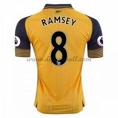 Neues Arsenal 2016-17 Fussball Trikot Ramsey 8 Kurzarm Auswärtstrikot Shop