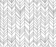 Larger, is even better.   Featherland White/Gray LARGE fabric by leanne on Spoonflower - custom fabric