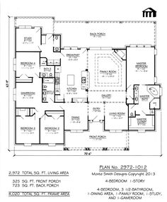 2972 sqft Plan No. 2972-1012 make study the laundry/craft and bath for 4th bedroom gun room and door out where w/d is