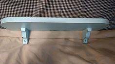 Primitive Wood Shelf  Aqua Distressed Shabby Chic Decor #NaivePrimitive