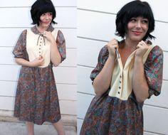 vintage 70s peasant dress $38
