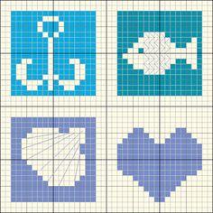 1000 images about grilles points de croix sur la mer on pinterest cross stitch nautical and - Grille point de croix mer ...