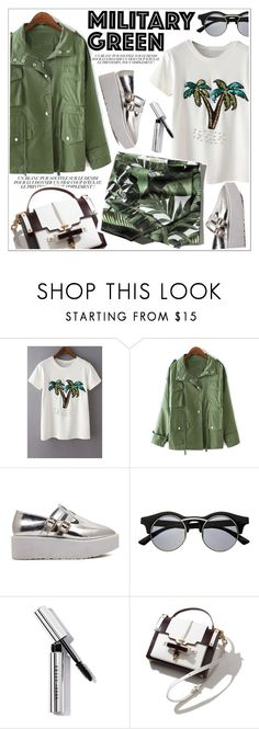 """""""Attention! Go Army Green"""" by teoecar ❤ liked on Polyvore featuring Retrò, Bobbi Brown Cosmetics, Ex Voto Paris and Abercrombie & Fitch"""