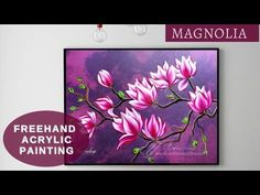 Freehand acrylic painting    Magnolia 🌸🌸painting for beginners ART ideas    Explore the creativity - YouTube Acrylic Painting Flowers, Acrylic Painting Techniques, Acrylic Art, Beginner Art, Painted Cakes, Diy Canvas Art, Flower Art, Magnolia, Cake Painting