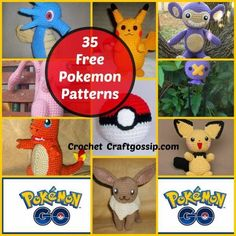 I am so excited, I just came across the BEST free crochet patterns for Pokemon Go. These Free patterns are all located on one amazing website! Wolfdreamer has shared over 35 of her favourite Pokemon Pokemon Crochet Pattern, Crochet Toys Patterns, Amigurumi Patterns, Crochet Designs, Stuffed Toys Patterns, Crochet Diy, Crochet Gifts, Crochet Dolls, Crochet Food