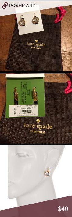 Kate Spade crystal earrings Crystal leverback earring. Comes with bag. kate spade Jewelry Earrings