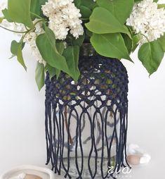 Egyik legszebb tavaszi virág, a fehér orgona ❤🌿 . . #ziamakrame #zia #handmadehomedecor #magyarkézművestermék #otthondekor #makramedekor #macramehome #egyedidekor #kekdekor #bluedecoration #bluevase #mécsestartó Handmade Home, Vase, Decoration, Home Decor, Decor, Decoration Home, Room Decor, Decorations, Vases