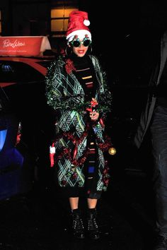 Beyoncé's Christmas-Themed Getup Beats Your Ugly Holiday Sweater