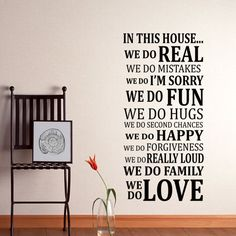 In this House Wall Decal Sticker Art Vinyl Poster door HappyWallz
