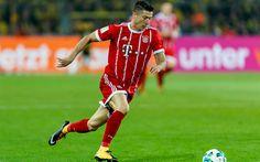 Download wallpapers 4k, Robert Lewandowski, match, Bayern Munich, Bundesliga, soccer, footballers