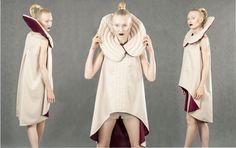 Diploma Project by Aleksandra Sadura 2014 fashion | form | quilting | beige | tunic | collar